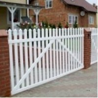 Garden White Picket Fence Straight Top