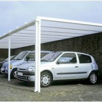 4.0m Wide Commercial Carport Canopy