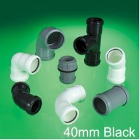 Floplast 40 mm Push Fit Black