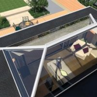 UltraSky Skyroof Skylight - No Mid Bars