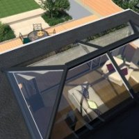 UltraSky Skyroof Skylight - with Mid Bars
