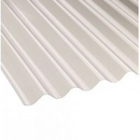 Vistalux Clear 3 Inch Profile PVC Corrugated Sheet