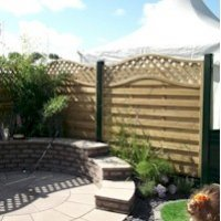 Garden Plastic Fence Posts & Gravel Board System