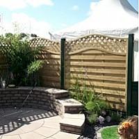 Garden Plastic Fence Posts & Gravel Board System