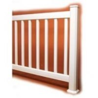 Garden 42 Inch Plastic Picket Balustrade Vinyl Fencing