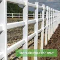 Garden 3 Rail Post & Rail Fence System White