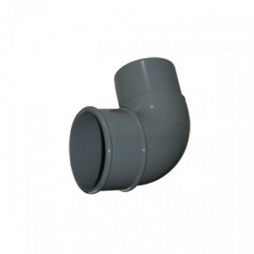 Floplast 68mm Grey Round 90º DownPipe Bend (RB1G)