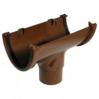 112mm Half Round Guttering - Brown