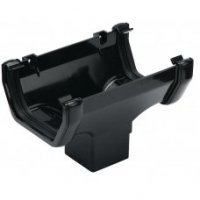 114mm Square Guttering - Black