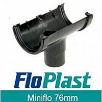 Floplast Black MiniFlo 76mm Gutter