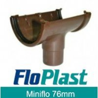 Floplast Brown MiniFlo 76mm Gutter
