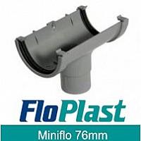 Floplast Grey MiniFlo 76mm Gutter