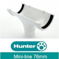 Hunter White 76mm Mini-Line Gutter