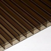 10mm Twin Wall Bronze Polycarbonate Sheets