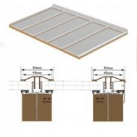 2.5m Long Polycarbonate Roof Kit