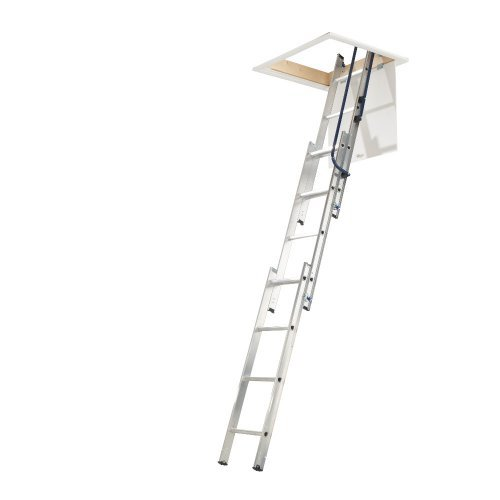 3 section Easy Stow Aluminium Loft Ladder