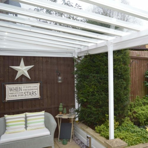 ... Clearview Glass Patio Canopy   Projection 2.5m ...