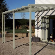 Clearview Glass Patio Canopy - Projection 1.5m & Clearview Glass Patio Canopy