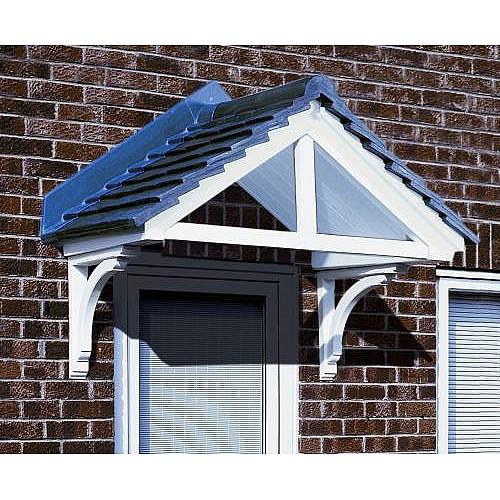 The Cheltenham GRP Over Door Canopy White  sc 1 st  Master Plastics & Cheltenham GRP Over Door Canopy White