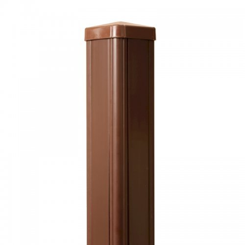 Pvcu Plastic Brown In Line Garden Fence Post