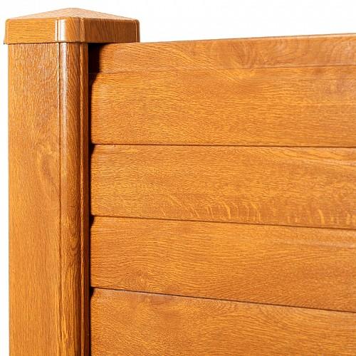 Golden Oak Woodgrain Effect PVC Fence / Gravel Board