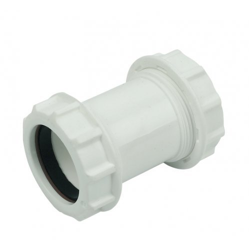 Floplast 40mm Waste Pipe Straight Coupling