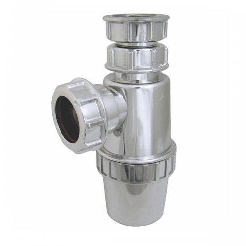 Floplast 40mm Waste Pipe Chrome Style Telescopic Bottle Trap 76mm Seal