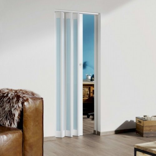 The Eurostar Internal Folding Door - White - Glass Lines