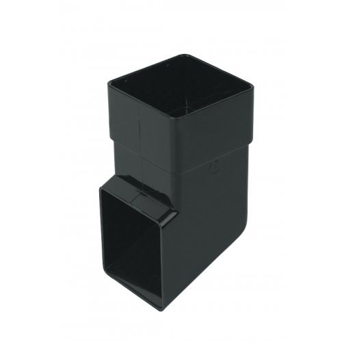 65mm Black Square Downpipe Shoe (RBS3B)