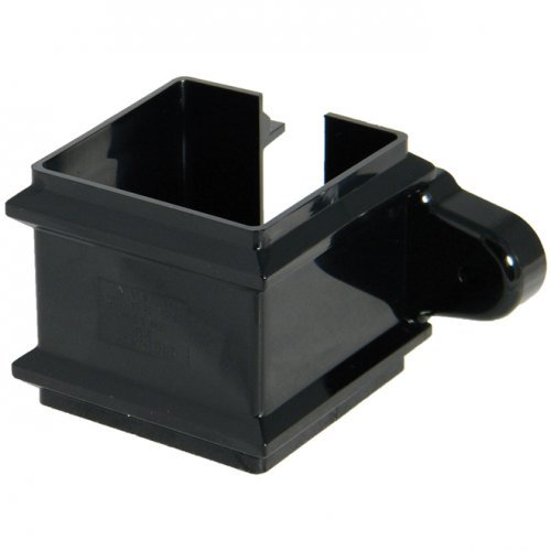 65mm Black Classic Square Downpipe Clip - With Lugs (RCS4B)