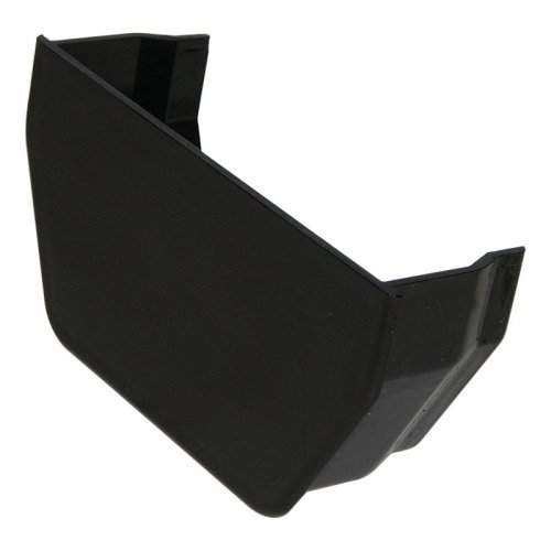 114mm Black Square Gutter Internal Stop End (RES2B)