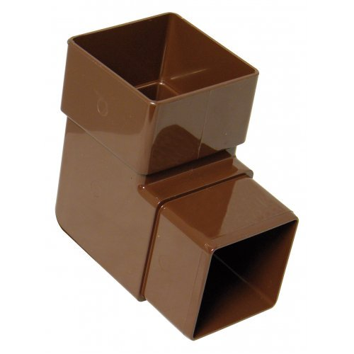 Floplast 65mm Brown Square 90º Downpipe Bend (RBS1V)
