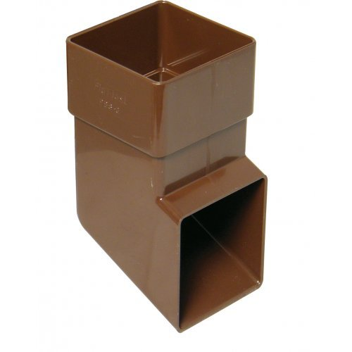 Floplast 65mm Brown Square Downpipe Shoe (RBS3V)