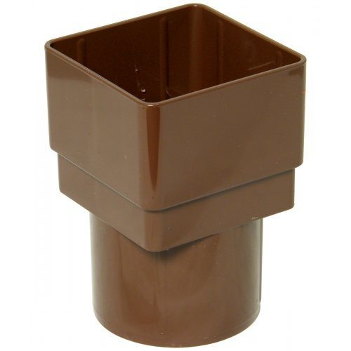 Floplast 65mm Brown Square to 68mm Round Downpipe Converter (RDS2V)