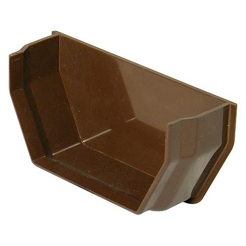 Floplast 114mm Brown Square Gutter Internal Stop End (RES2V)