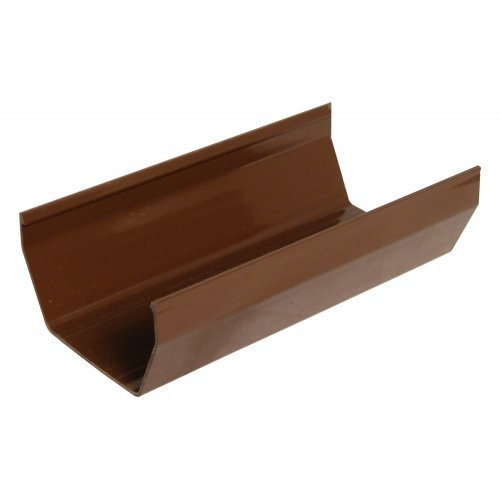Floplast 114mm Brown Square 4m Gutter (RGS4V)