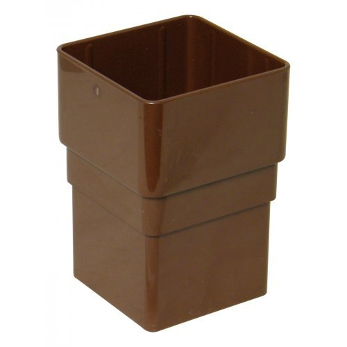 Floplast 65mm Brown Sqaure Downpipe Joint (RSS1V)
