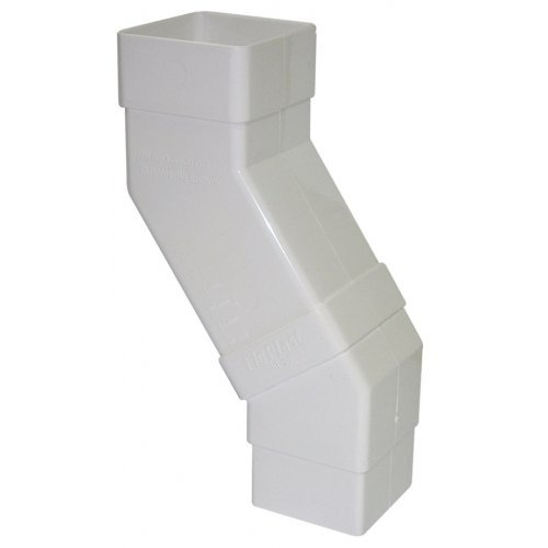 Floplast 65mm White Square Downpipe Adjustable Offset (RBS5W)