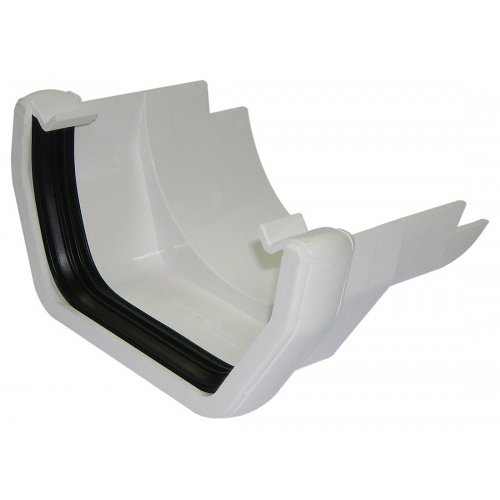 Floplast 114mm White Square Gutter to Cast Iron Adapter (RDS5W)