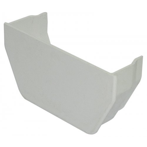 Floplast 114mm White Square Gutter Internal Stop End (RES2W)