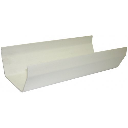Floplast 114mm White Square 4m Gutter (RGS4W)