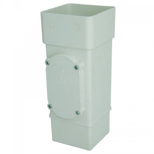 Floplast 65mm White Square Downpipe Access Pipe (RXS1W)