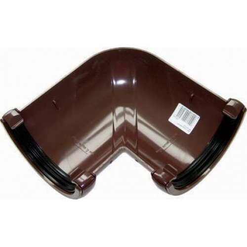 Floplast 112mm Brown Half Round Universal 90º Gutter Angle (RA1V)