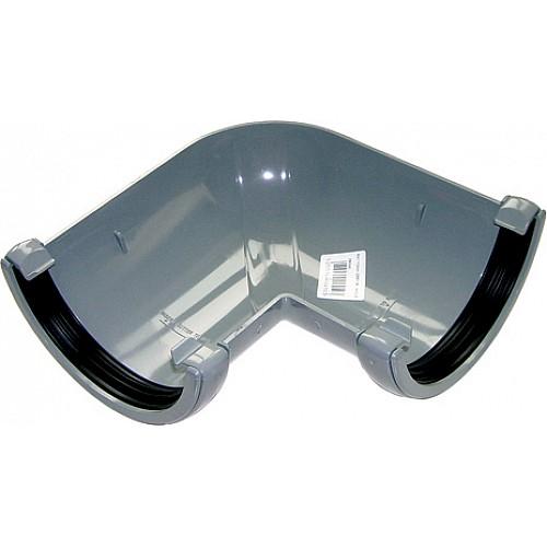 Floplast 112mm Grey Half Round Universal 90º Gutter Angle (RA1G)