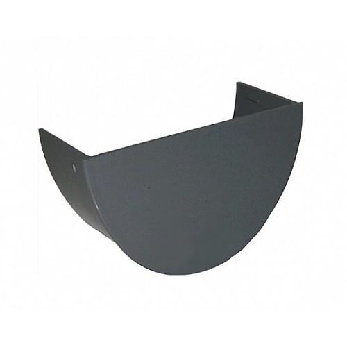 Floplast 112mm Grey Half Round Gutter Internal Stop End (RE2G)