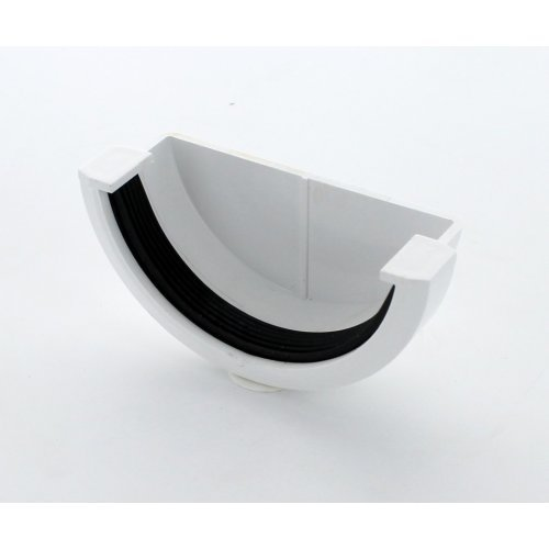 Hunter White 76mm Gutter Stopend External