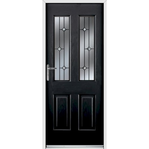 Rockdoor Select Range - Jocobean Composite Door - Onyx Black