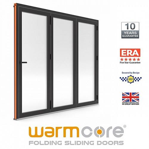 Aluminium WarmCore 3 Pane Bi-Fold Door