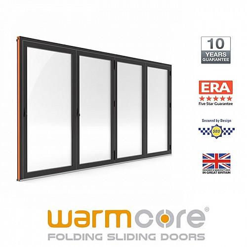 Aluminium WarmCore 4 Pane Bi-Fold Door