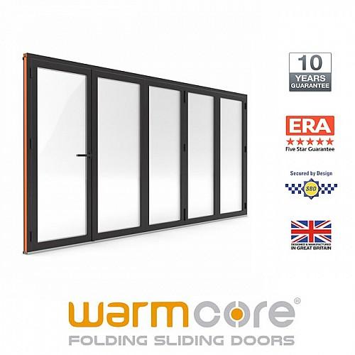 Aluminium WarmCore 5 Pane Bi-Fold Door